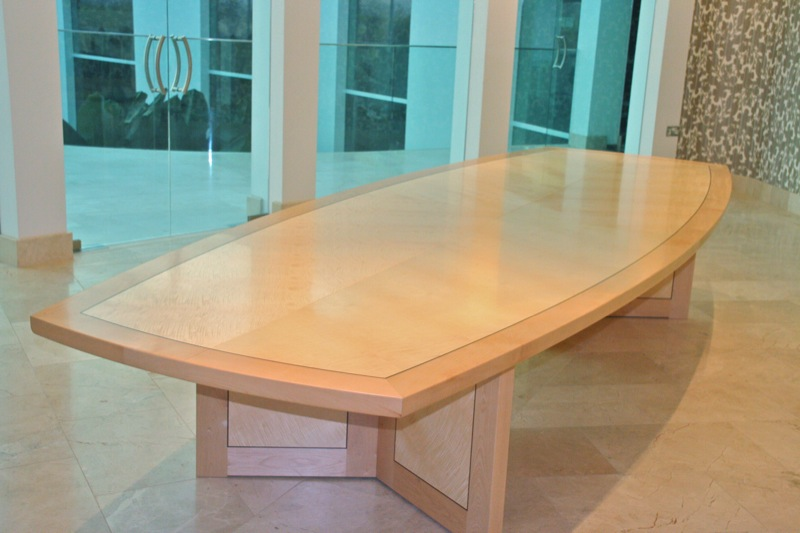 Leaf - ripple sycamore dining table