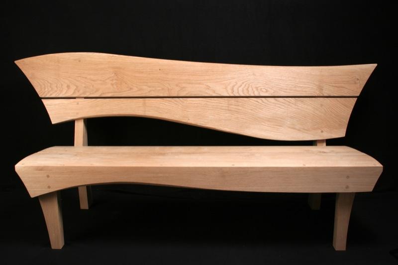 May Day - oak garden bench