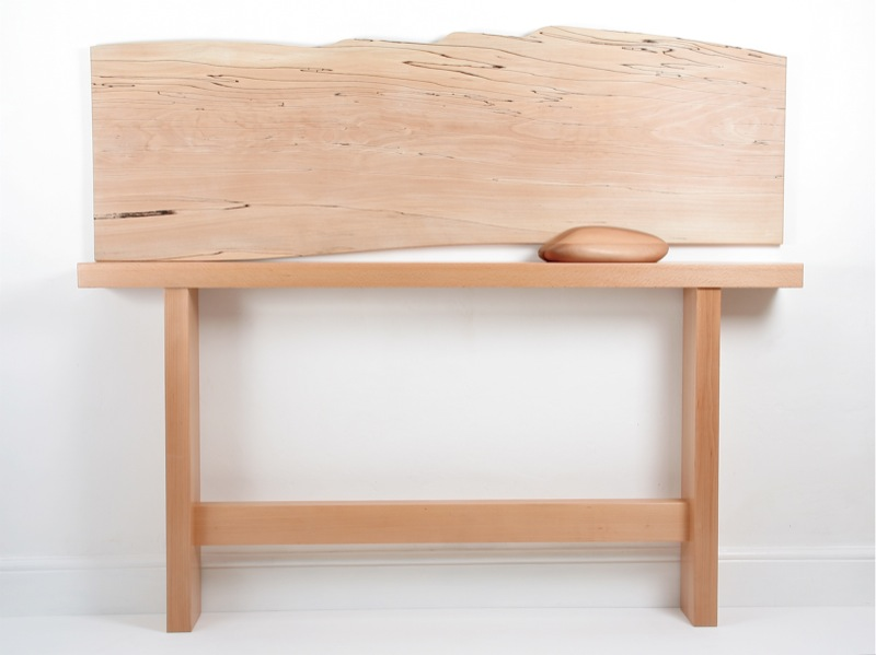 kachemak bay - spalted beech console table