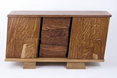 central door open revealing the drawers